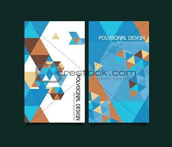 Abstract vector polygonal design brochure templates