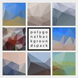Abstract vector polygonal design backgrounds pack