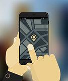 Navigation app mockup