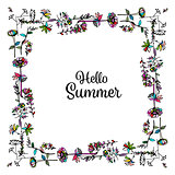 Floral frame, sketch for your design