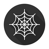 Spider web icon flat