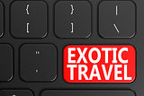 Exotic Travel on black keyboard