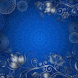 Blue-silvery vintage frame