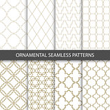 Ornamental grid patterns in vintage style - seamless
