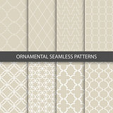 Collection of beige ornamental patterns.