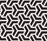 Vector Seamless Black And White Geometric Grid Pattern