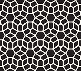Vector Seamless Black and White Rounded Lace Pattern