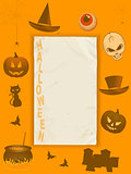 Halloween grunge paper and frame