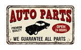 Auto parts vintage  metal sign
