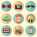 Hipster style icons set