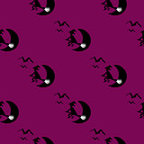 Seamless Pattern Halloween Moon