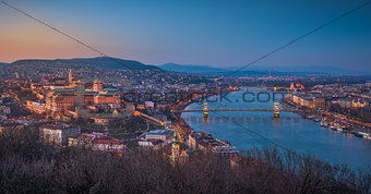 Cityscape of Budapest, Hungary at Twilight