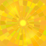Abstract Elegant Yellow Sun Background.