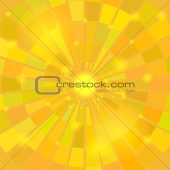 Abstract Elegant Yellow Sun Background.