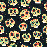 Vector cartoon flat Dead day seamless pattern
