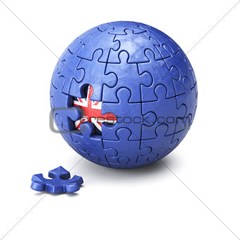 Brexit concept puzzle sphere