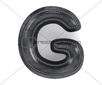 Black leather skin texture capital letter G