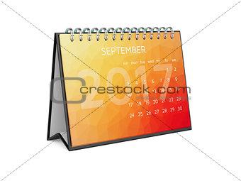 Calendar for 2017 september