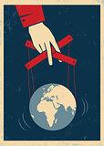 hand controls Earth