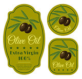 green labels for olive oil