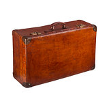 Old closed suitcase