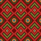 Ornate ethnic knitting motley seamless pattern