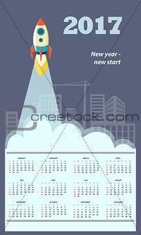 business calendar for wall 2017