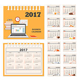 desk business calendar 2017 year