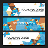 Abstract vector polygonal design banners templates