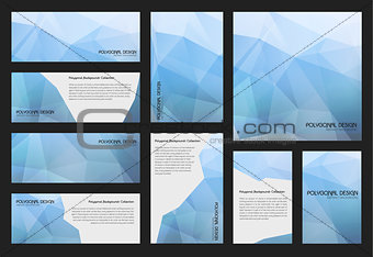 Abstract trendy polygnal design background templates