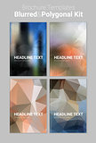 Abstract vector material design backgound templates