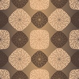 Seamless vintage brown pattern