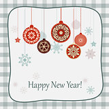 retro new year card
