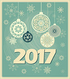 vintage new year card 2017