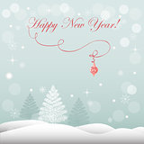 New year`s card