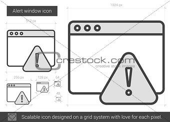 Alert window line icon.