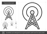 Transmitter line icon.
