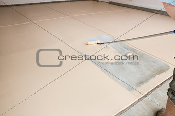 Painting Floor of Garage