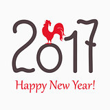 symbol red rooster for year 2017