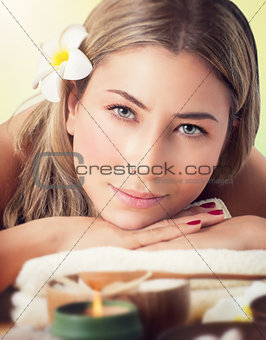 Beautiful woman at spa