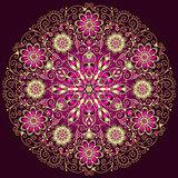 round floral vintage pattern