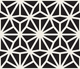 Vector Seamless Black and White Lace Pattern