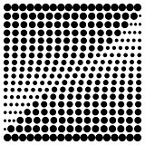 Halftone design elements square