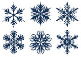 Set of 6 snowflakes