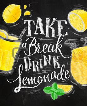 Poster lemonade chalk