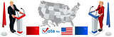 Us Election 2016 Debate Pools Icon Set 01