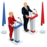 Us Election 2016 Debate Pools Icon Set 03