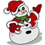 Snowman Santa Claus