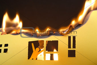 Man In Burning House