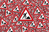 Traffic sign construction sign